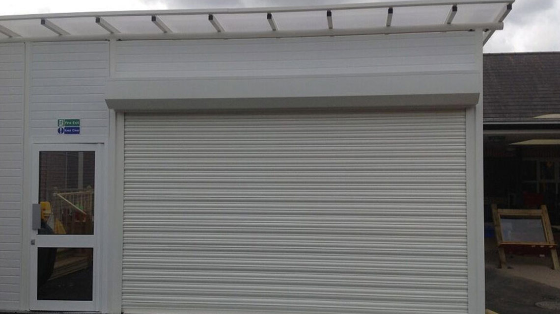 Commercial Shutter Outside