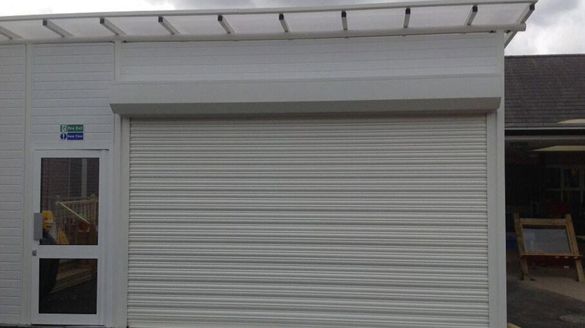 Commercial Shutter Outside