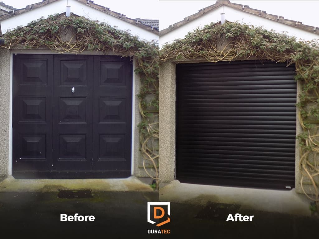 SeceuroGlide Garage Door Installation Before and After
